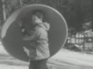Cortina 1956: trasporto faticoso di una parabola