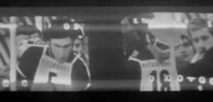 Russel a sinistra, Thoeni a destra nelle immagini affiancate della seconda manche dello slalom di Kitzbuhel